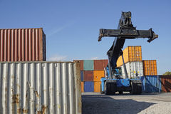 Container lifter Stock Images