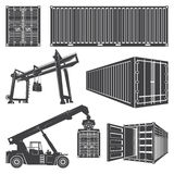 Container loader gantry crane. Royalty Free Stock Images