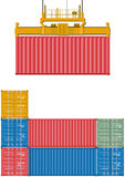 Container loading Royalty Free Stock Photos