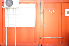 Container with Locked door Royalty Free Stock Photos