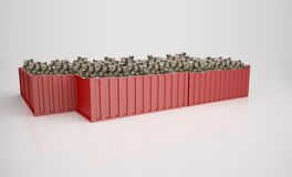 Container with money Stock Image