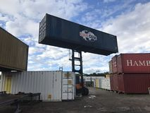 Container movements Stock Image