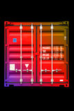 Container multicolor color 01. Stack of conntainer - all company names, copyrights and trademarks are disposed Royalty Free Stock Image