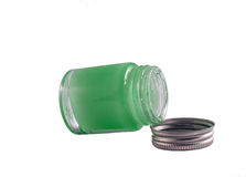 Container of ointment Royalty Free Stock Images