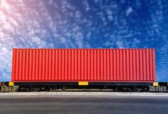 Free Container On Train Royalty Free Stock Photo - 112888555