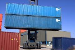 Container op de haven royalty-vrije stock foto