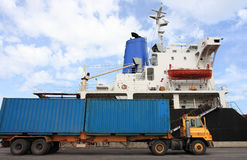 Container operation in port Royalty Free Stock Photography