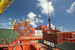 Container operation in port Stock Images