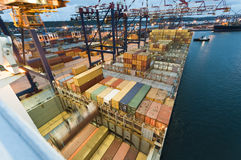 Container operation in port, Durban South Africa Stock Photos
