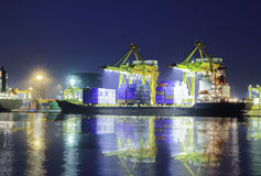 Container operation in port series Royalty Free Stock Photo