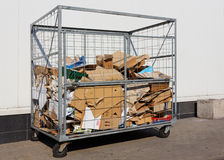 Container  for paper and cardboard Royalty Free Stock Photography