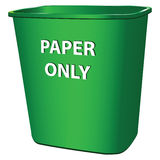 Container for paper Stock Photography