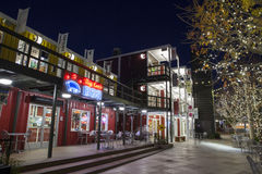 Container Park in Downtown Las Vegas, NV on December 10, 2013 Stock Images