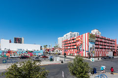 Container Park in Downtown Las Vegas. LAS VEGAS - SEPTEMBER 27, 2016 - Container Park on September 27, 2016 in Las Vegas. Container Park is a sustainable Royalty Free Stock Photography