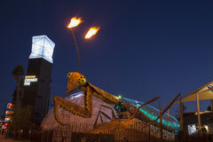 Container Park Praying Mantis in Las Vegas, NV on December 10, 2 Stock Images