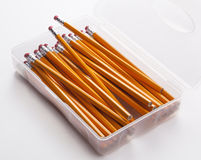 Container of pencils Stock Images