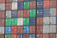 Container pile Royalty Free Stock Photo
