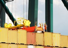 Container placement Stock Photos