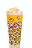 Container popcorn royalty-vrije stock fotografie