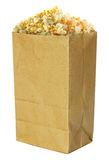 Container of popped popcorn Stock Photo