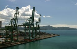 Container port royalty free stock photos