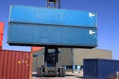 Container on the port Royalty Free Stock Photo