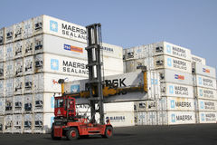 Container port Stock Image