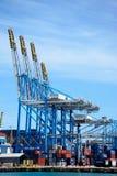 Container port, Birzebugga. Royalty Free Stock Images