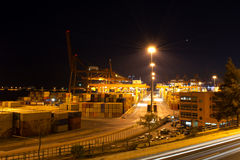 Container port royalty free stock images