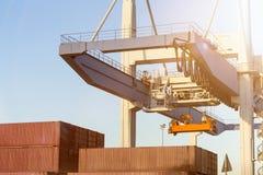 Container port crane Stock Photo