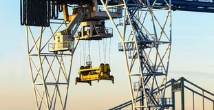Container port crane Royalty Free Stock Photo