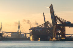 Container Port of Hamburg Royalty Free Stock Images