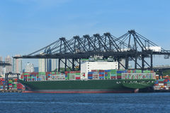 Container port. In Hong Kong Stock Image