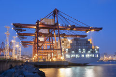 Container Port. In Hong Kong stock images