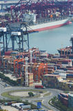 Container port. In Hong Kong Royalty Free Stock Image