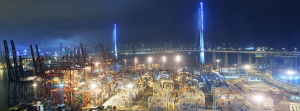 Container port in Hong Kong Royalty Free Stock Image