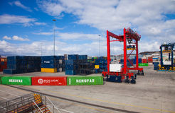 Container port in Las Palmas Stock Photo
