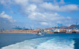 Container port in Las Palmas Stock Images