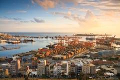 Container port Piraeus, Athens. Royalty Free Stock Photos