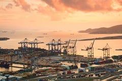 Container port Piraeus, Athens. Stock Photo