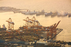 Container port Piraeus, Athens. Royalty Free Stock Images