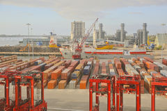 Container Port, Port of Palm Beach, Florida, USA Royalty Free Stock Photo