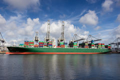 Container port shipping royalty free stock photos