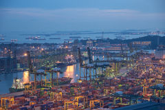 Container port of Singapore Royalty Free Stock Image