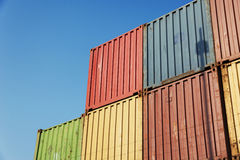 Container port. Stack of Cargo in container port stock images