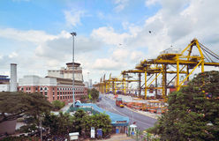 Container port terminal in Singapore Stock Photography