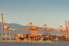 The container port of Vancouver. Stock Images