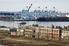 Container Port View Royalty Free Stock Photos