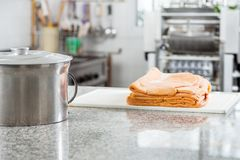 Container With Ravioli Pasta Sheets On Countertop Stock Images
