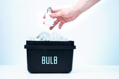 Container for recycling - bulb. Stock Images